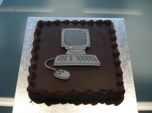Blog launch cake