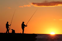 Sunset at Sunset beach, Port Waikato